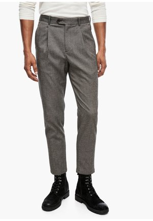 SLIM FIT: TWEEDHOSE - Trousers - brown tweed