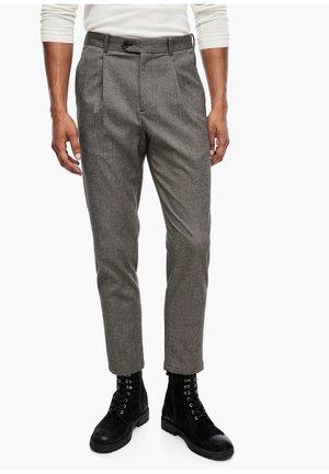 SLIM FIT: TWEEDHOSE - Pantaloni - brown tweed