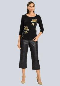 Alba Moda - Long sleeved top - schwarz beige - 1