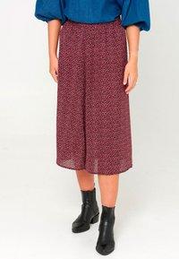 Noella - PAJA - A-line skirt - wine old rose flower - 0