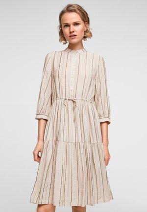 Shirt dress - beige stripes