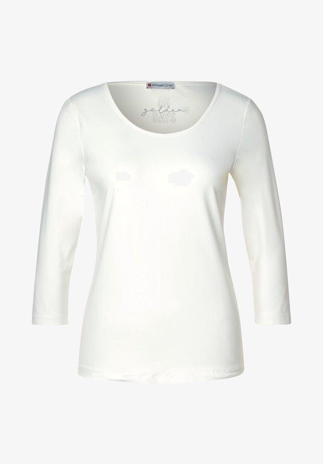 T-shirt à manches longues - weiß