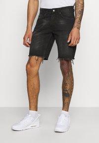 Redefined Rebel - RROSAKA - Denim shorts - marble black - 0