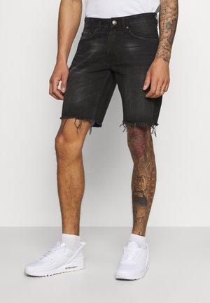 RROSAKA - Shorts di jeans - marble black