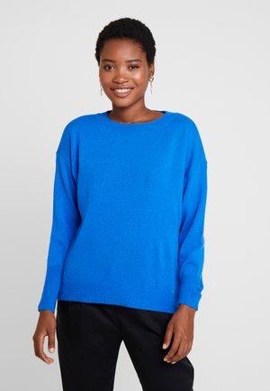 Stickad tröja - cobalt blue
