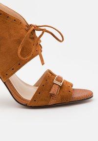 Pinko - FRANCINE - High heeled sandals - marrone - 4