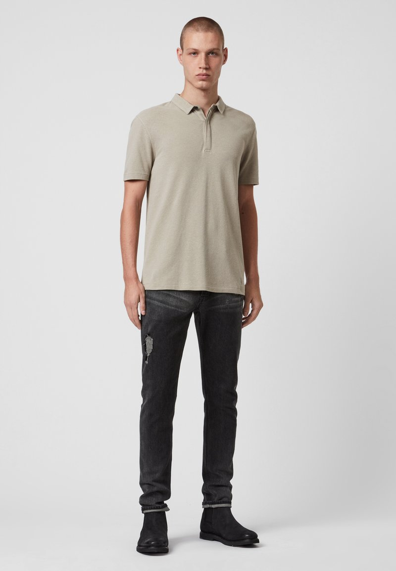 AllSaints - HEMP SS POLO - Polo shirt - beige