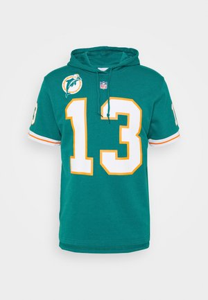 MIAMI DOLPHINS DAN MARINO HOODED SHORT SLEEVE - Article de supporter - teal