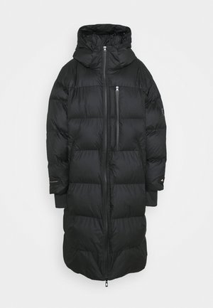 LONG PADDED - Winter coat - black