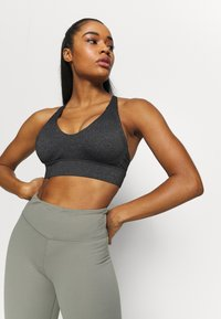 Cotton On Body - WORKOUT TRAINING CROP - Medium support sports bra - charcoal marle - 3