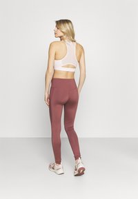 South Beach - HIGH WAIST SHINE PANEL LEGGING - Medias - rose/brown - 2