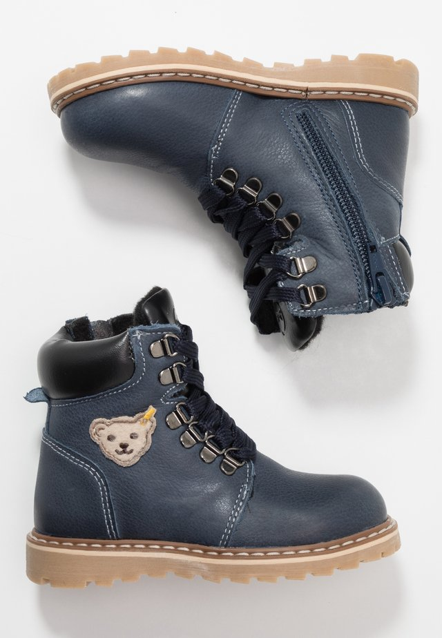 ROBBIN - Lace-up ankle boots - dark blue