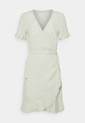 MINI  WRAP DRESS - Robe d'été - green