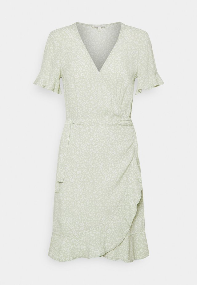 MINI  WRAP DRESS - Vestito estivo - green