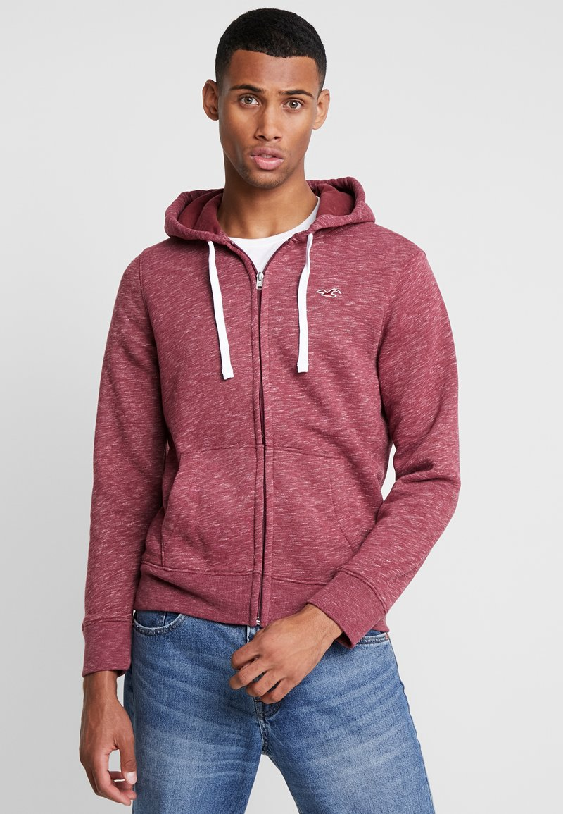 Hollister Co. - CORE ICON - Zip-up hoodie - burgundy