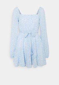 NA-KD - PAMELA REIF X ZALANDO OVERLAPPED FRILL MINI DRESS - Day dress - dusty blue - 3