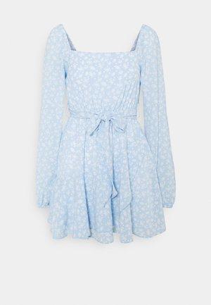 PAMELA REIF X ZALANDO OVERLAPPED FRILL MINI DRESS - Day dress - dusty blue