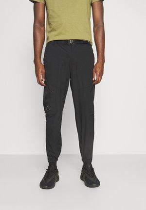 JJIBILL JJMERCER ZIP - Cargo trousers - black