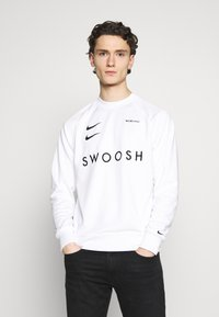 Nike Sportswear - CREW - Long sleeved top - white/black - 0