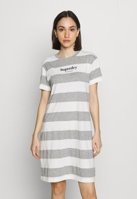 Superdry - DARCY DRESS - Jersey dress - grey - 0