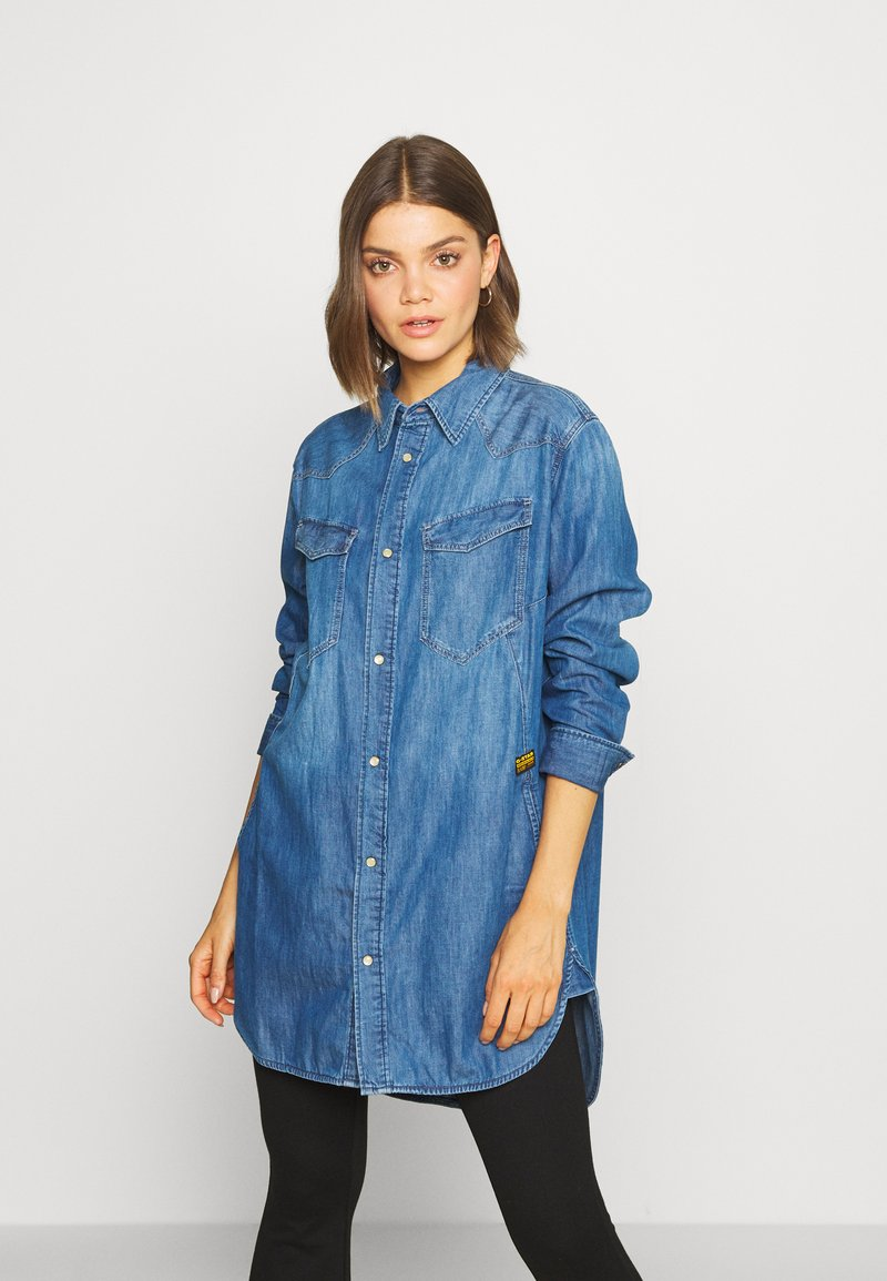 G-Star - TACOMA  - Button-down blouse - blue