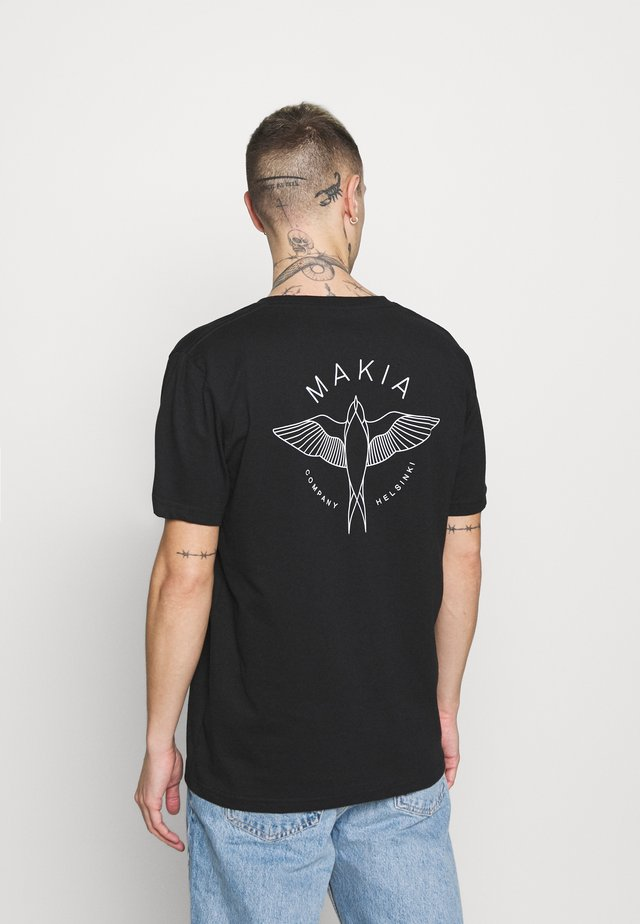 SWALLOW - T-shirt imprimé - black