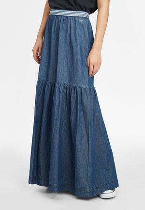 Pleated skirt - dusty blue
