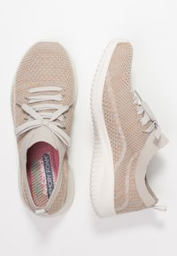 Skechers Sport - ULTRA FLEX - Mocasines - taupe/gold/offwhite - 3