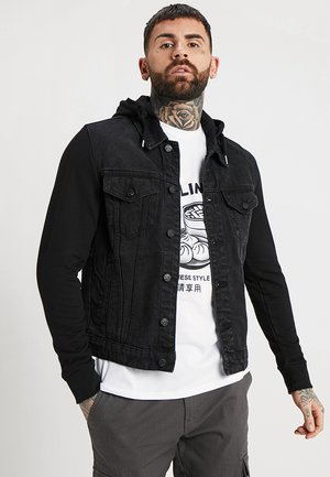 ONSCOIN HOOD TRUCKER - Denim jacket - black denim