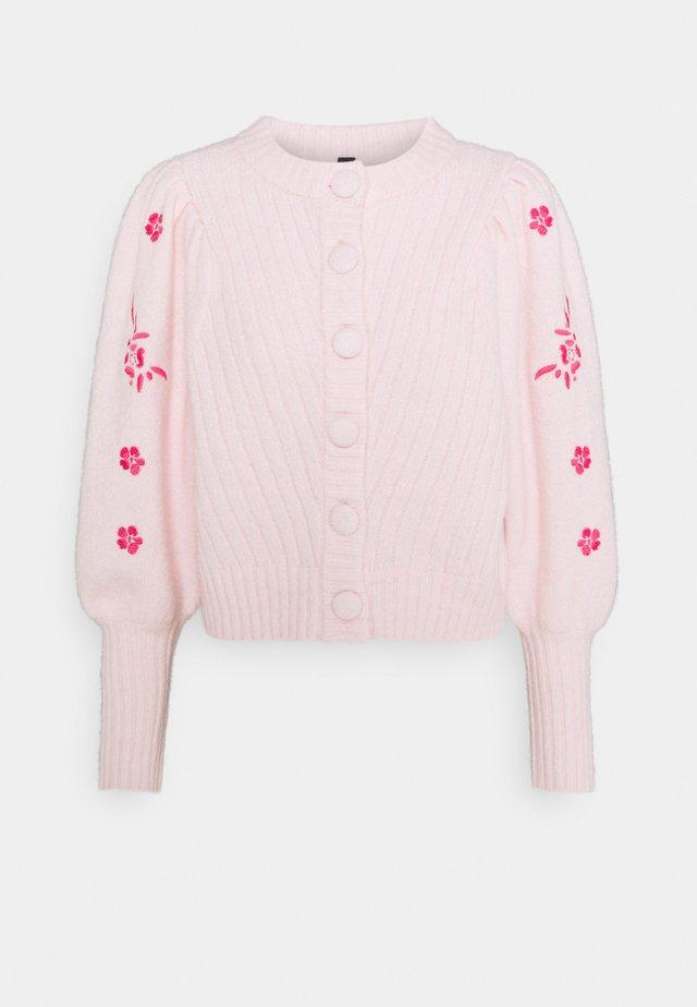 YASTILLI EMBROIDED  - Cardigan - fandango pink
