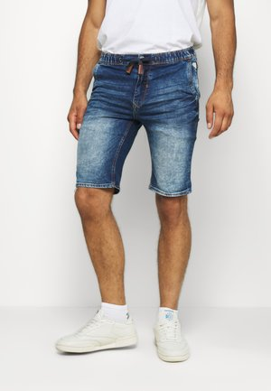 Denim shorts - denim middle blue
