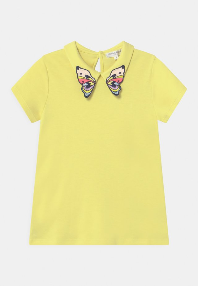 T-shirt imprimé - straw yellow