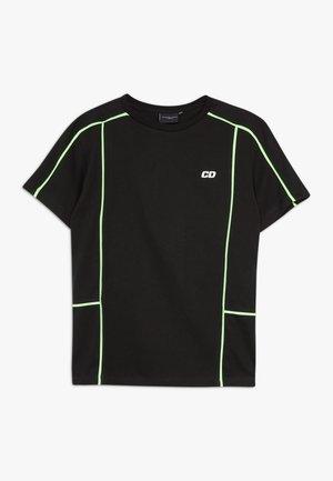 PANEL TEE - T-shirt print - black/multi