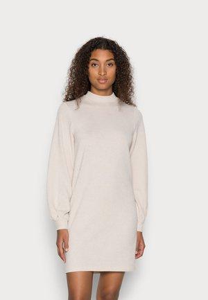 JDYEMMA NECK DRESS - Jumper dress - oatmeal