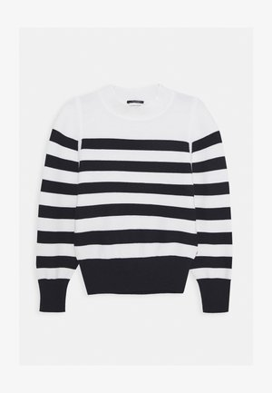 LOOSE FIT PULL IN SPECIAL BRETON - Trui - off-white/black