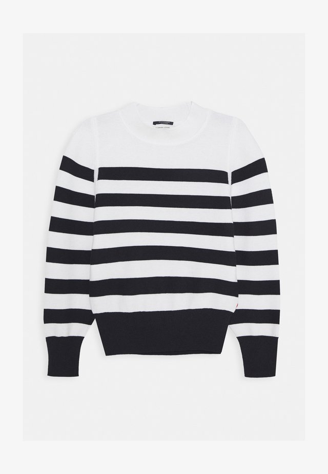 LOOSE FIT PULL IN SPECIAL BRETON - Strikkegenser - off-white/black