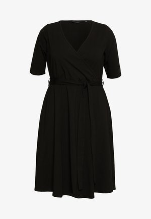 CURVE WRAP DRESS - Denní šaty - black
