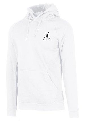 M J JUMPMAN FLEECE PO - Bluza z kapturem - white-black (940108-101)