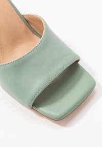 NA-KD - SQUARED TOE STILETTO MULES - Heeled mules - dusty green - 2