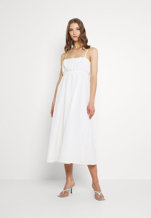 MARSEILLE MIDI DRESS - Korte jurk - white