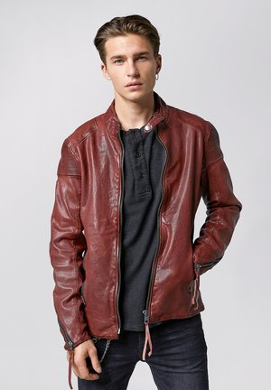 FRANKLYN - Leather jacket - dark red
