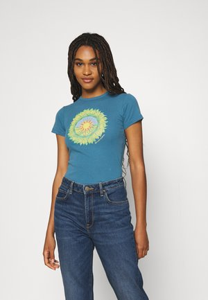 MOTHER EARTH BABY TEE - Print T-shirt - blue