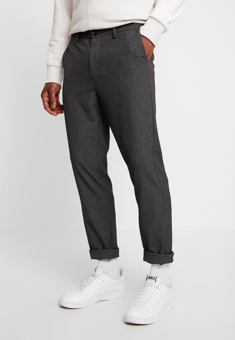 We are Cph - JANZIK  - Trousers - dark grey / melange