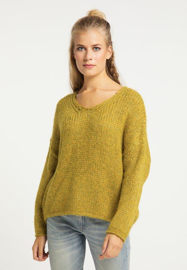 Sweter - oliv