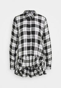 JDYSTAY HIGH LOW SOLID - Camicia - black/white