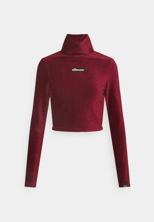 HOLLIE - Long sleeved top - burgundy