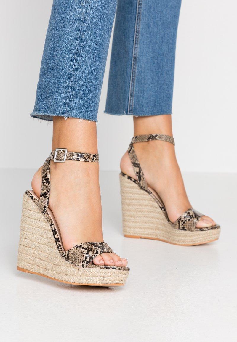 Public Desire - SYDNEY - High heeled sandals - natural