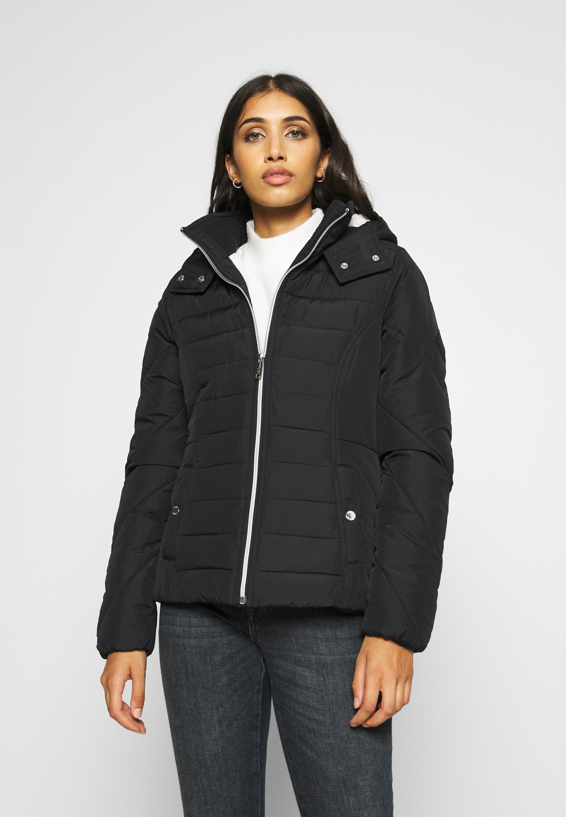 Hollister Co. Vinterjacka black Zalando.se