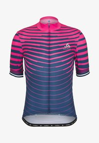 ODLO - STAND UP COLLAR FULL ZIP - Print T-shirt - beetroot purple/estate blue - 3