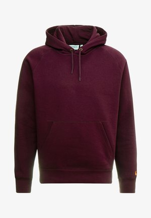 HOODED CHASE  - Hoodie - shiraz/gold